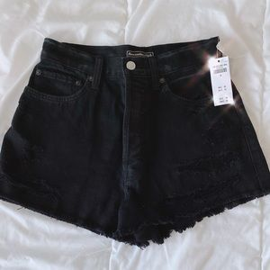 Abercrombie & Fitch Black High Waisted Shorts!